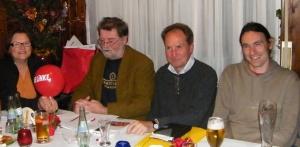 v.l.n.r.: Christiane Böhm, Leo Spahn, Jörg Cezanne, Jens Wiegand